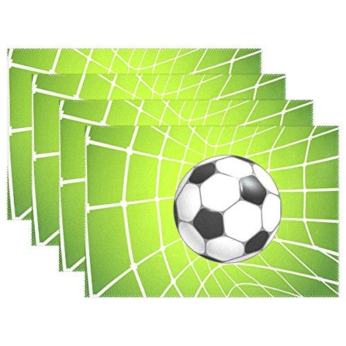 ball-In Net Platzdeckchen, hitzebeständigen Platzdeckchen Stain Resistant Anti-Blockier-System Waschbar Polyester Setzer Nicht Beleg Easy Clean Platzdeckchen, 12