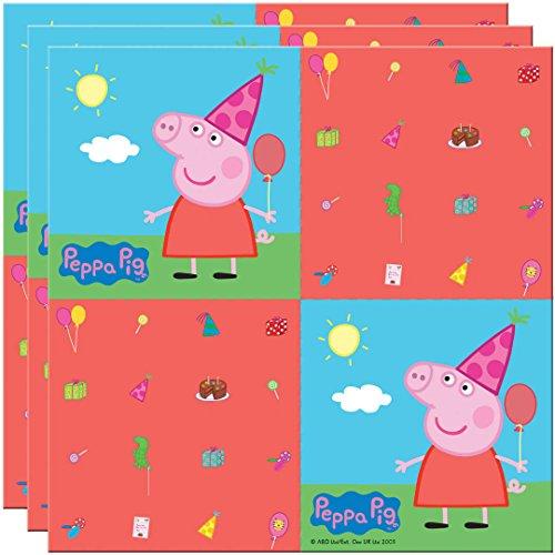20 Serviettes en papier Peppa Pig 33 x 33 cm