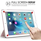 MoKo iPad Pro 9.7 Hülle - PU Leder Tasche Schutzhülle Schale Smart Case mit Translucent Rücken Deckel, mit Auto Schlaf / Wach Funktion und Stanfunktion für Apple iPad Pro 9.7 Zoll Tablet, Rose Gold