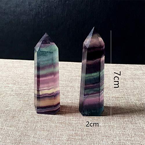 tal Point Healing Reiki Chakra Anhänger Pendel Natürliche Lila Grün Fluorit Quarzkristall Säule Stein Pendel ()