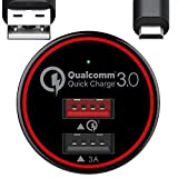 BC Master Quick Charge 3.0 - Cargador de coche para Samsung Galaxy S7 S6 Edge, Note 4 5, LG G3 G4, Huawei P9, Sony Xperia, HTC One Nexus iPad y más
