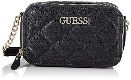 Guess - Wilona, Bolsos bandolera Mujer, Negro (Black), 6x12.5x20 cm (W x H L)