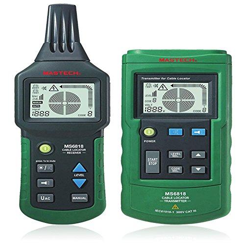 Preisvergleich Produktbild Vamery MASTECH MS6818 Untergrund Draht Metallrohr Kabelsucher Detektor Tracker Kabeltesterr
