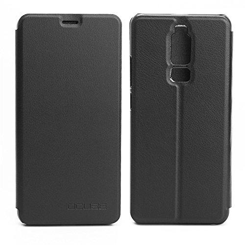 Handyhülle für Leagoo S8 95street Schutzhülle Book Case für Leagoo S8, Hülle Klapphülle Tasche im Retro Design mit Praktischer Aufstellfunktion - Etui Schwarz
