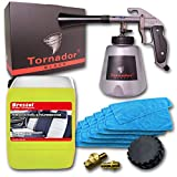 Brestol + Bendel Tornador Black Z-020S gebrauchsfertiger Textil- & Polsterreinigungsset 5 Liter + 5X Mikrofasertuch Universaltuch Stoffreiniger Textilreiniger Polsterreiniger Teppichreiniger