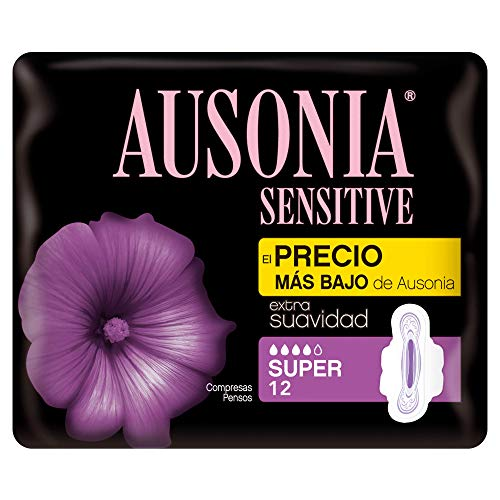 Ausonia Sensitive Super Compresas Con Alas