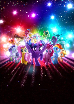 MY LITTLE PONY : THE MOVIE – US Textless Movie Wall Poster Print - 30CM X 43CM Brand New