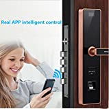 Mobile APP Remote-Passwort Sperren Sicherheit Tür Fingerabdruck-Sperre Swipe,OneColor-OneSize