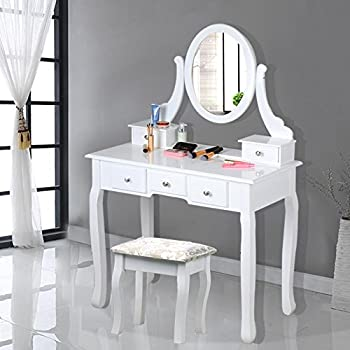 Sienna dressing table mirror stool set premium - Amazon bedroom chairs and stools ...