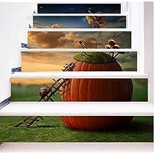 asfrata265 Vivid DIY Pasos Etiqueta Engomada De La Escalera Motivación Caracol Paisaje Wallpaper PVC Poster Patrones