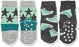 Sterntaler Baby-Jungen Socken Abs-Söckchen DP Sterne/Schuhe, Grau (Silber Melange 542), 18
