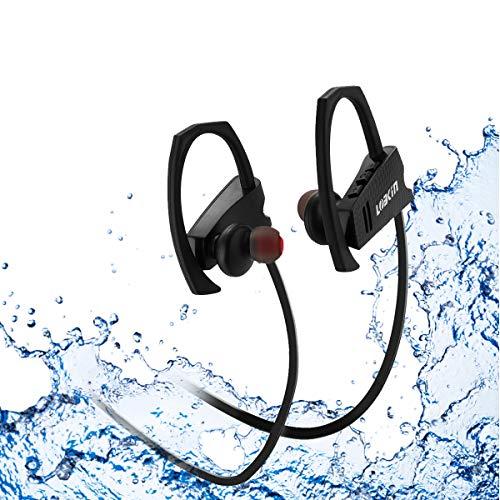 LOBKIN Auriculares inalámbricos deportivos Bluetooth resistente al su