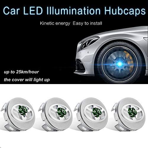 L&U 4 Stück LED-Licht Magnetschwebebahn Wasserdichte Mittelradnabenkappen-Abdeckungen passend für Toyota Hanlander/Camry/Ritz/Callora, Durchmesser: 62mm (Toyota Camry Lichter)