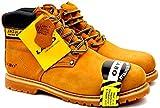 Best Winter Work Boots - Labo Brand Men's Tan Genuine Leather Steel Toe Review