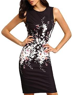 Mujer Moda Bodycon Dress Sexy Cintura Alta Apretado Lápiz Vestidos da Partido Coctel Fiesta Cuello Redondo Sin...