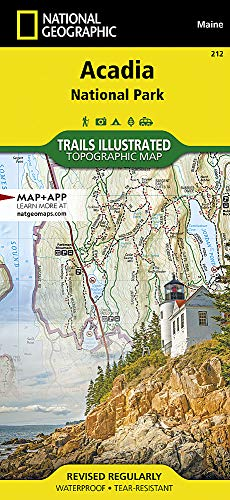 Acadia National Park, ME: National Geographic Trails Illustrated USA Nordosten (National Geographic Trails Illustrated Map, Band 212) - Road Map New England