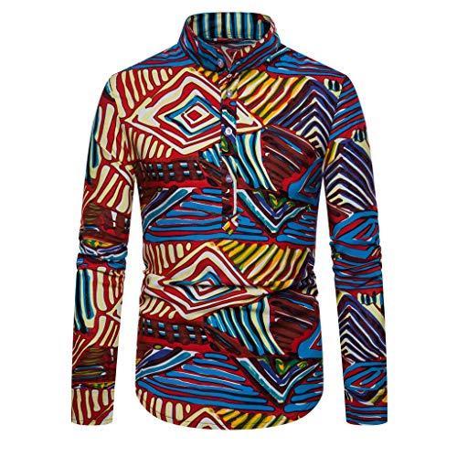 Herren Pullover Mantel 2019 Neueste Männer African Gedruckt Langarm Top Bluse Streetwear T-Shirt Bluse