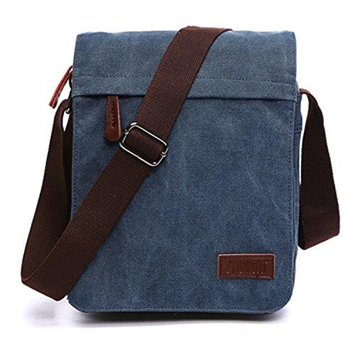 1277fc32b Outreo Bolsos Bandolera Vintage Messenger Bag Maletines para Hombre Bolso  Bolsas de Viaje Tela para Laptop