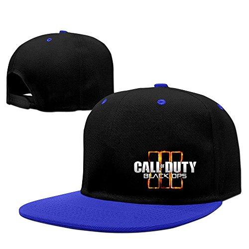 Hittings Call Of Duty Black Ops 3 Logo Unisex Cotton Adjustable Trucker Hat One Size Royalblue