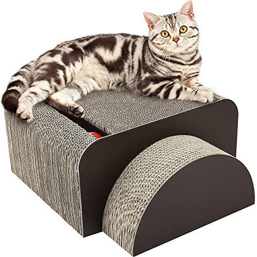 Pawaboo 2-en-1 Rascador de Gato para Cama y Sofá