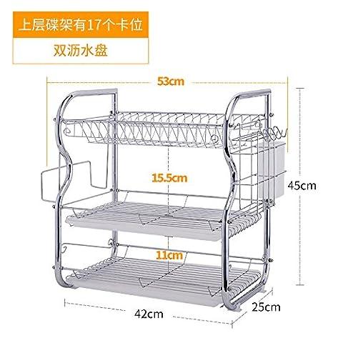 DADAO-Hutch drainboard kitchen shelf table rack 3 layer rack sideboard knife shelf filter rack dish