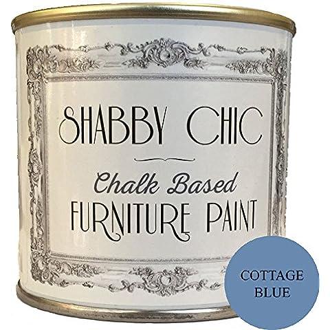 Cottage blu a base di gesso-Vernice per mobili grande per creare una shabby chic stile. 250ml