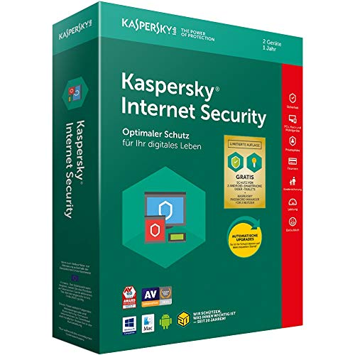 Kaspersky Internet Security Standard | 2 Geräte | 1 Jahr | Limited: + 2 Android-Schutz + 2 Password Manager | Windows/Mac/Android | Download (Computer-software-antivirus)