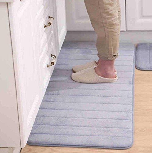 TWGDH Home Anti-Müdigkeit Memory Foam Küchenmatten Bath Rugs Rechteck Soft-Saugfähigen Non Skid Runner Bereich Teppich Geeignet Für Küche Und Badezimmer Schlafzimmer Teppich,Gray,60 * 120Cm - Non Skid Küche Teppich