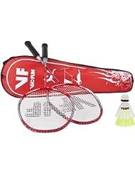 VICFUN Hobby Badminton Set Vicfun Badminton Set Premium - Raqueta de bádminton, color rojo, talla 796/6/8