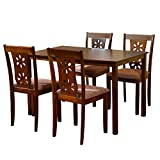 #4: @home by Nilkamal Four Seater Dining Table Set (Beige)