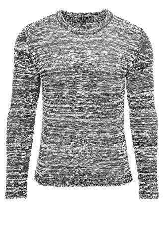 Carisma Herren Strickpullover Pulli Sweater Pullover Grau