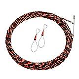 Crylee - Cinta de pescado con cabeza extractora para cable eléctrico, extractor de cable de alambre a través de la pared, cuerda de acero