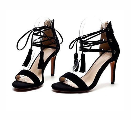 Mme sandales occasionnels Mme talons Rome hauts talons avec des talons minces 37