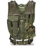 Taktische Einsatzweste Paintball Woodland Softair Outdoor inkl Flecktarn