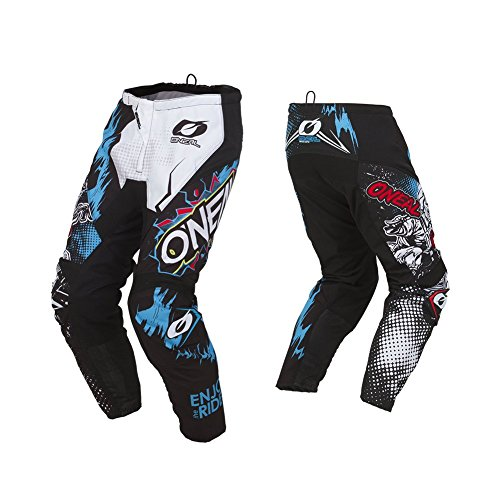 O'Neal Element Villain Kinder Motocross Hose MX Kids Mountain Bike MTB Downhill Freeride DH FR, 010E-9Youth, Farbe Weiß, Größe 24