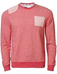 D Code ID 2480 Sweat-shirt Pull pour Homme, Rouge Chiné, Petit