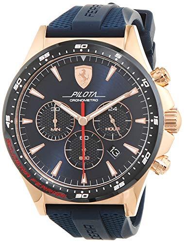 Scuderia Ferrari Reloj Cronógrafo para Hombre de Cuarzo con Correa en Silicona 830621