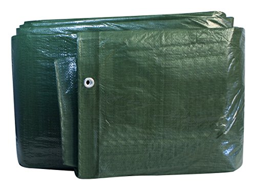 Windhager Schutz-Plane MEDIUM, Gewebeplane Abdeckplane, grün, 100 g/m², 5 x 6 m, 07033