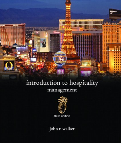 Introduction to Hospitality Management:United States Edition (Alternative Etext Formats)