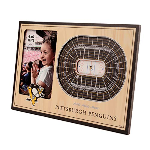 Woodgrain-snap (YouTheFan NHL Pittsburgh Penguins 3D StadiumViews Picture Frame)