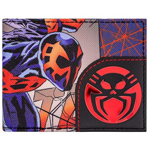 Marvel Spider-Man 2099 Zeichen und Logo Mehrfarbig Portemonnaie Geldbörse (Kostüm Spiderman 2099)