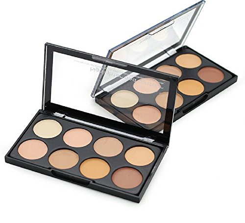 Kiss Beauty Highlighter And Contour Concealer Palette (8 Shades)