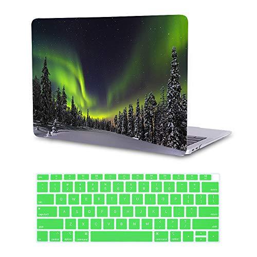 MTAOTAO Hartschale mit Tastaturschutz für MacBook Pro15 Zoll (A1707) Green Aurora MacBook Air 13-inch A1932 2018