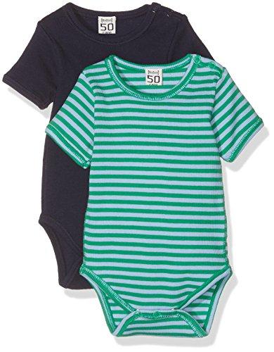 Care Baby - Jungen Body Anki1, 2er Pack, Gr. 74, Blau (Dark Navy 778)