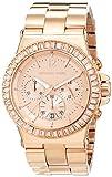 Michael Kors - Reloj analógico de cuarzo para mujer con correa de acero inoxidable, color rosa