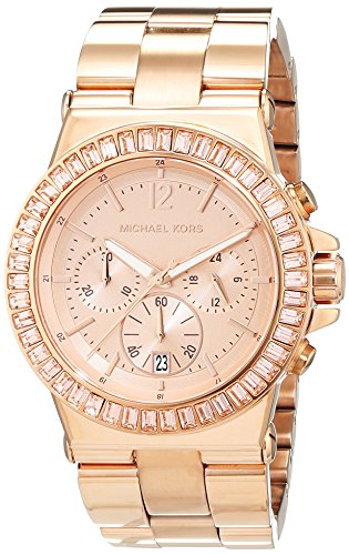 Michael-Kors-Reloj-analgico-de-cuarzo-para-mujer-con-correa-de-acero-inoxidable-color-rosa
