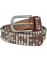 Bags4Less Vintage Nietengürtel / Gürtel mit Nieten Model: 156-205