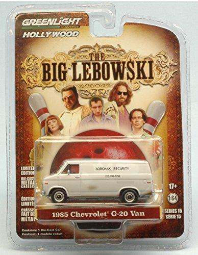 "CHEVROLET G-20 VAN 1985 THE BIG LEBOWSKI 1998 ""SOBCHAK SECURITY"" 1:64 Greenlight Movie modello modellino die cast"