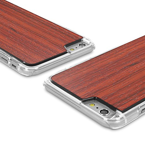 Cover-Up WoodBack Echtholz Transparent Schutzhülle für Apple iPhone 6 / 6s Plus Mahogani - Padauk