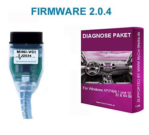 MyCor-Media Interface per Toyota diagnostico OBD2 cavo, mini VCI J2534, OBD  Scanner Yaris V 2 0 4